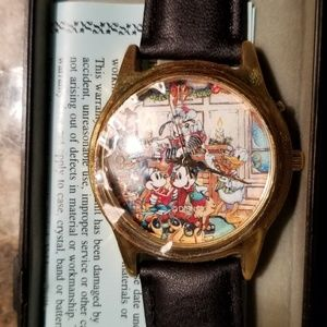 Disney Accessories - 1 HR SALE! Vintage Mickey Christmas Watch